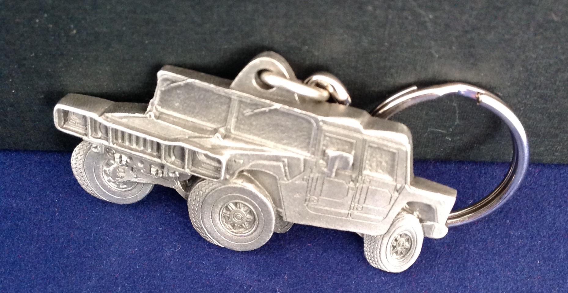 H1 Wagen Zinn Schlüsselanhänger