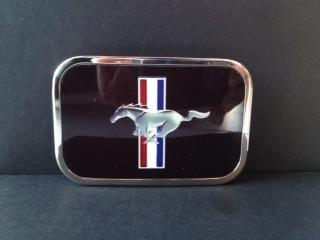 Gürtelschnalle Mustang schwarz